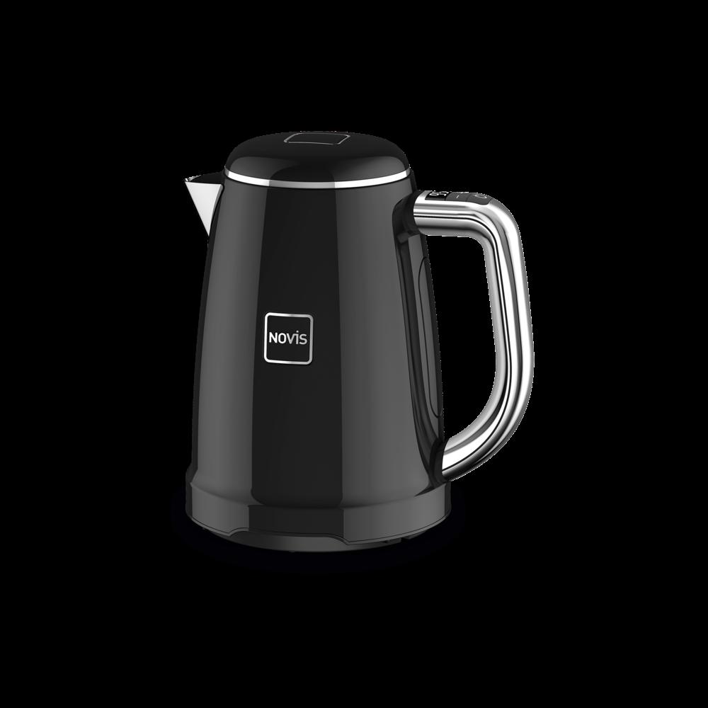 NOVIS Wasserkocher Kettle KTC1 black schwarz, 6114.03.20, 7640128133834