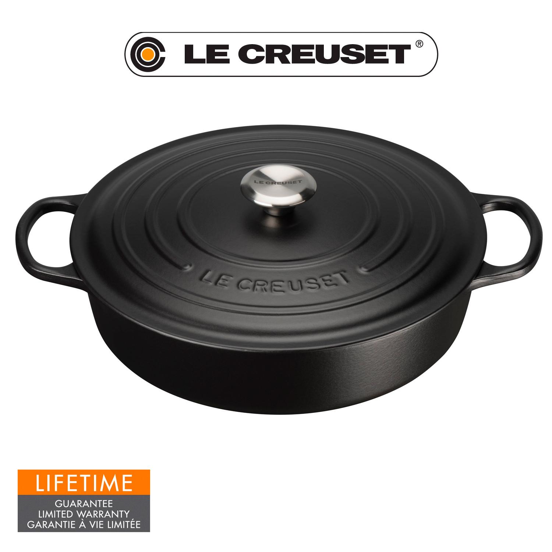 Le Creuset Signature Gourmet-Bräter rund 30 cm schwarz