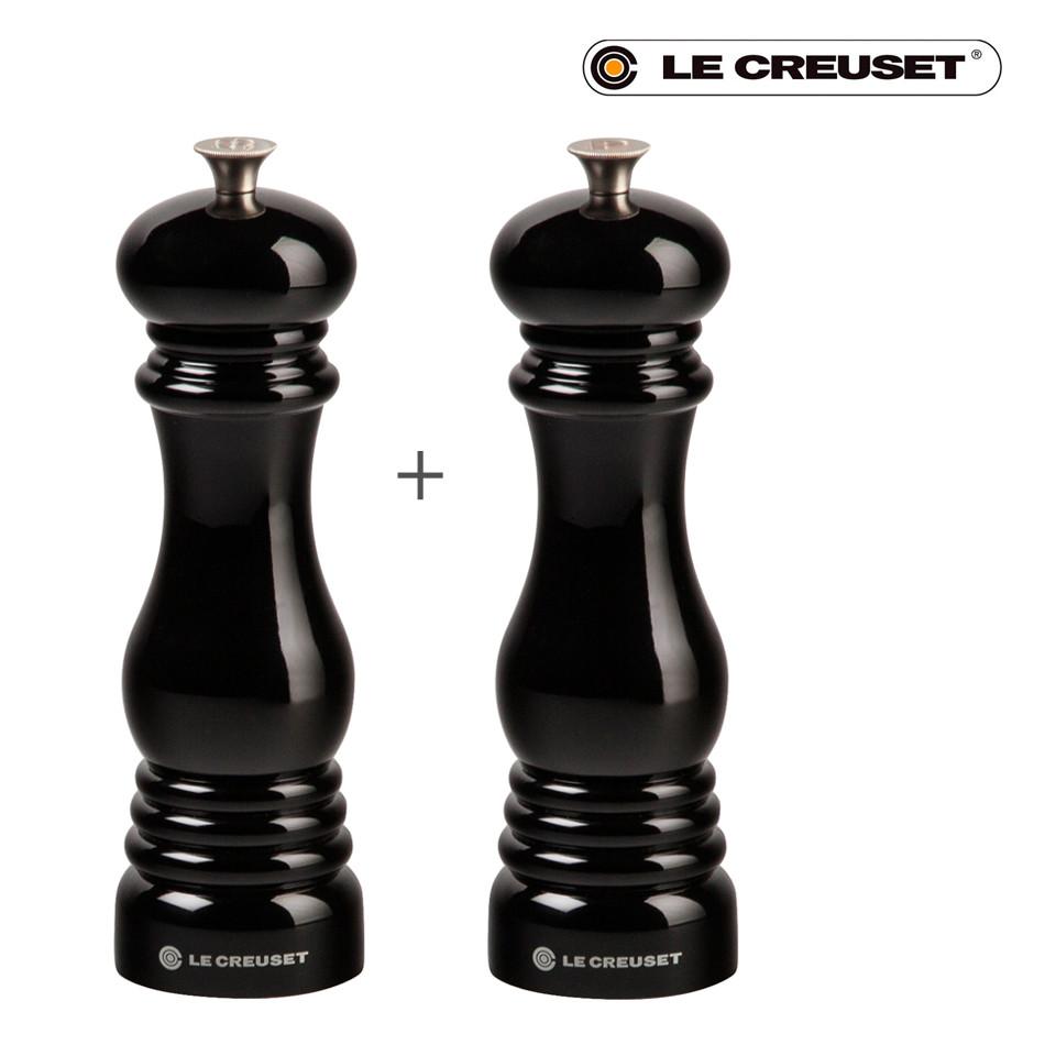 Le Creuset Salz- und Pfeffermühle 2er-Set schwarz