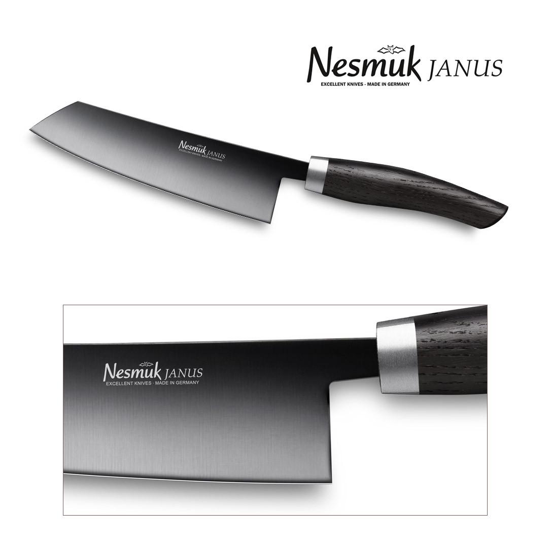 NESMUK JANUS Kochmesser 140-mm Klinge mit Griff aus Mooreiche - Detail