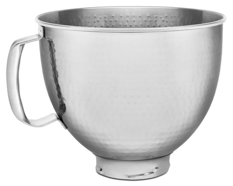 KitchenAid Edelstahlschüssel hammerschlag 4,8l für KitchenAid Artisan 5KSM5SSBHM