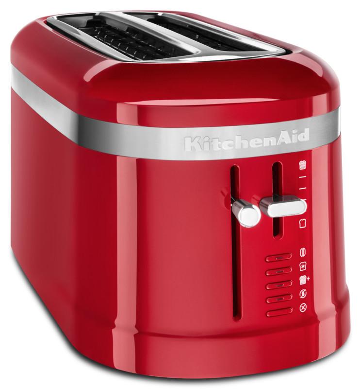 KitchenAid Loft 4 Scheiben Langschlitz-Toaster Design empirerot