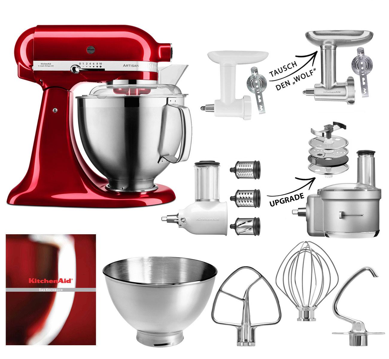 KitchenAid Küchenmaschine 185PS Fleischwolf Gemüseschneider Set