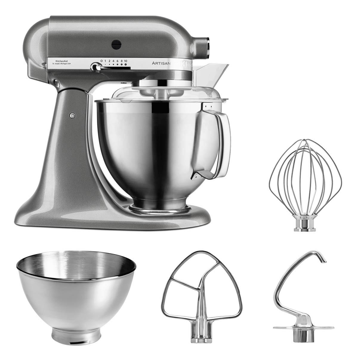 KitchenAid Küchenmaschine 5KSM185PS medallionsilber