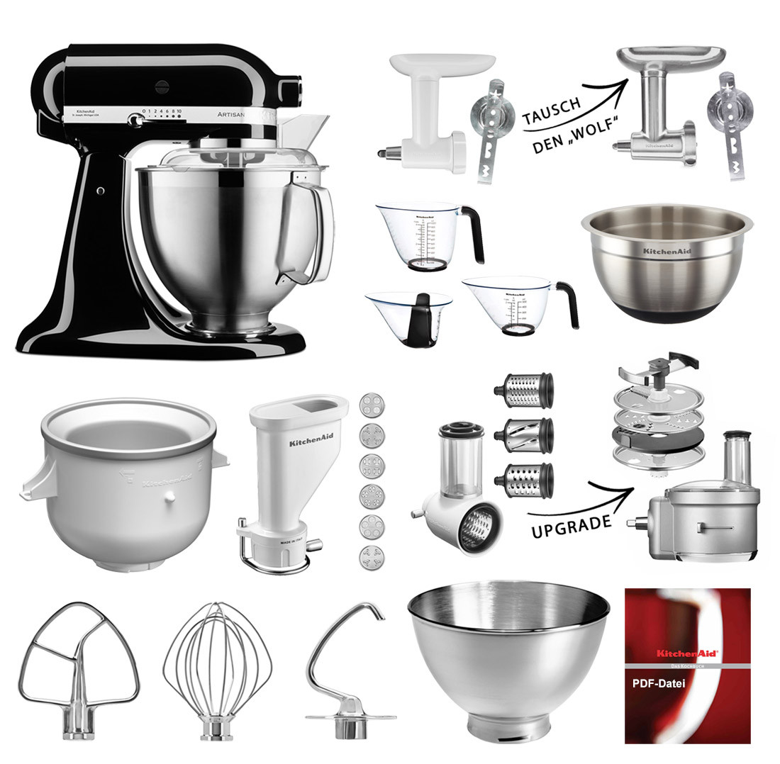 KitchenAid Artisan Küchenmaschine 185PS Onyx Schwarz