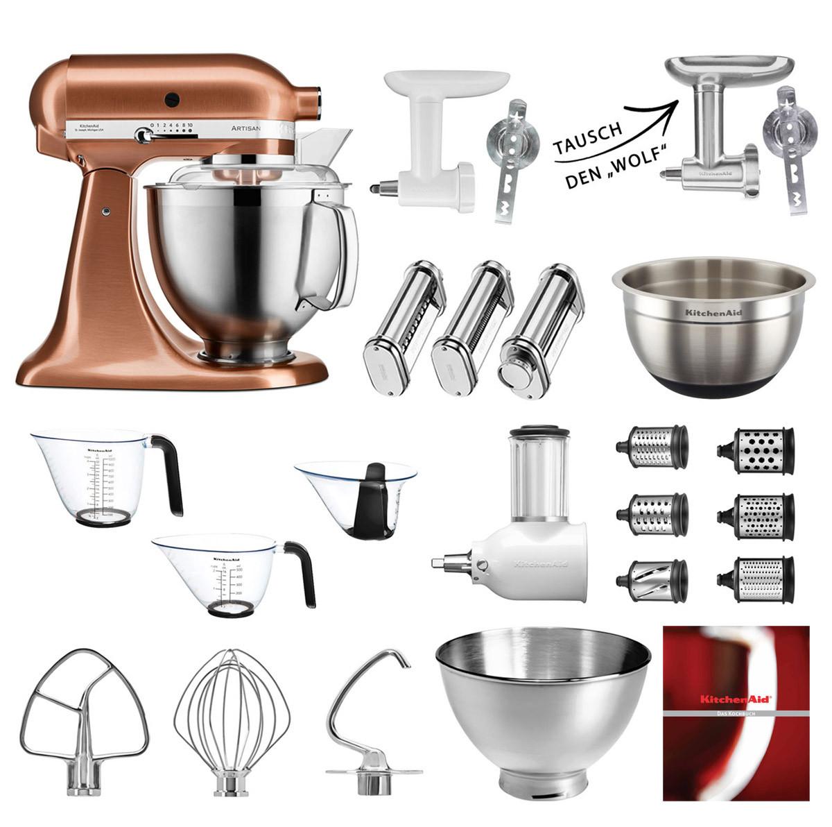KitchenAid Küchenmaschine 185PS Mega-Paket Premium Edition