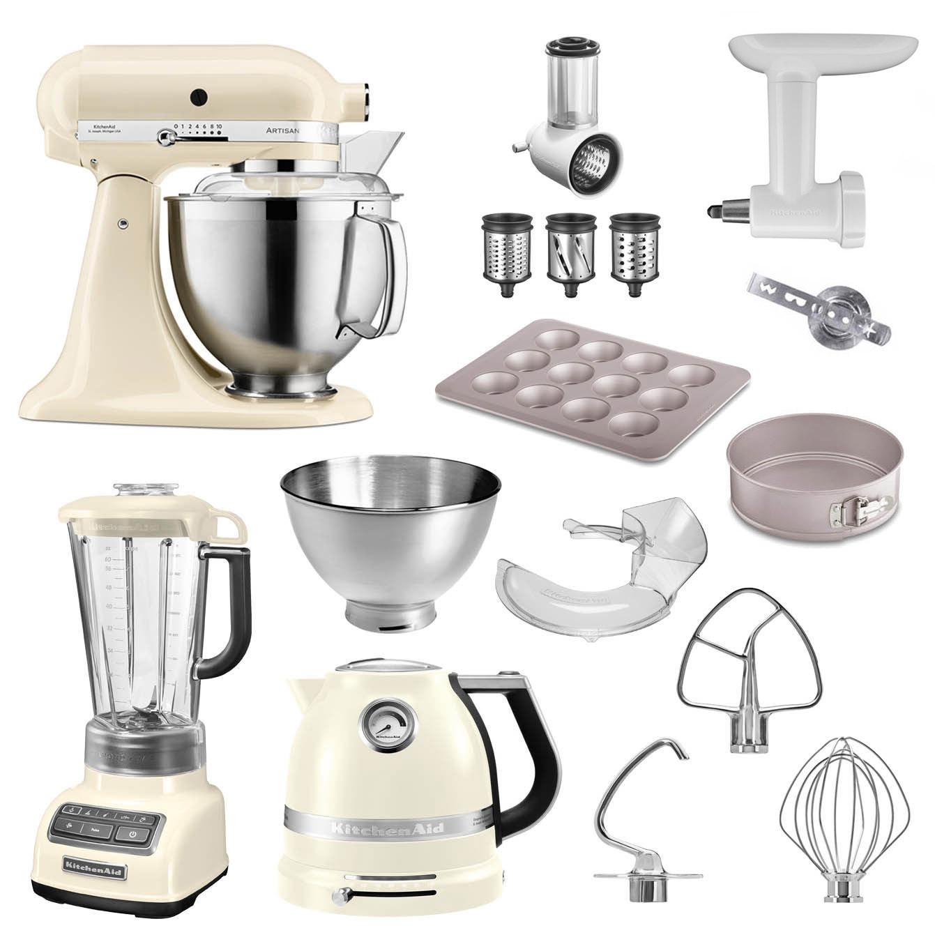 KitchenAid Küchenmaschine 185PS Sonder-Paket creme