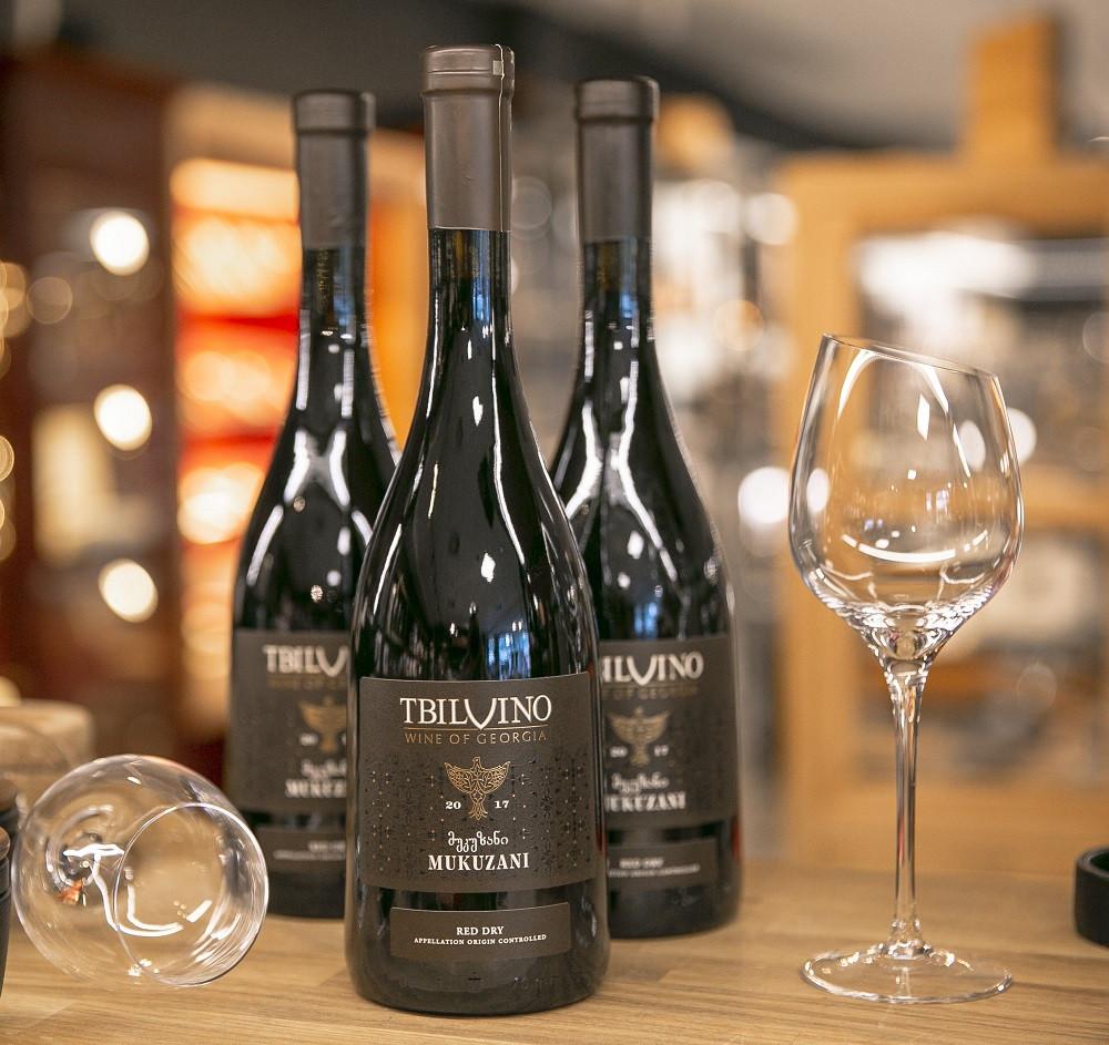 Tbilvino Mukuzani Georgien trockener Rotwein 0,75 Liter