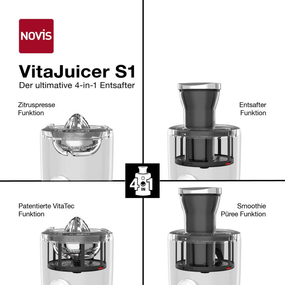 NOVIS VitaJuicer S1 Entsafter rot, 6511.02.20, 7640128131212