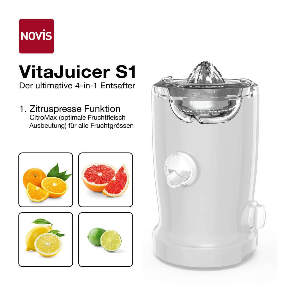 NOVIS VitaJuicer S1 Entsafter creme, 6511.09.20, 7640128131601