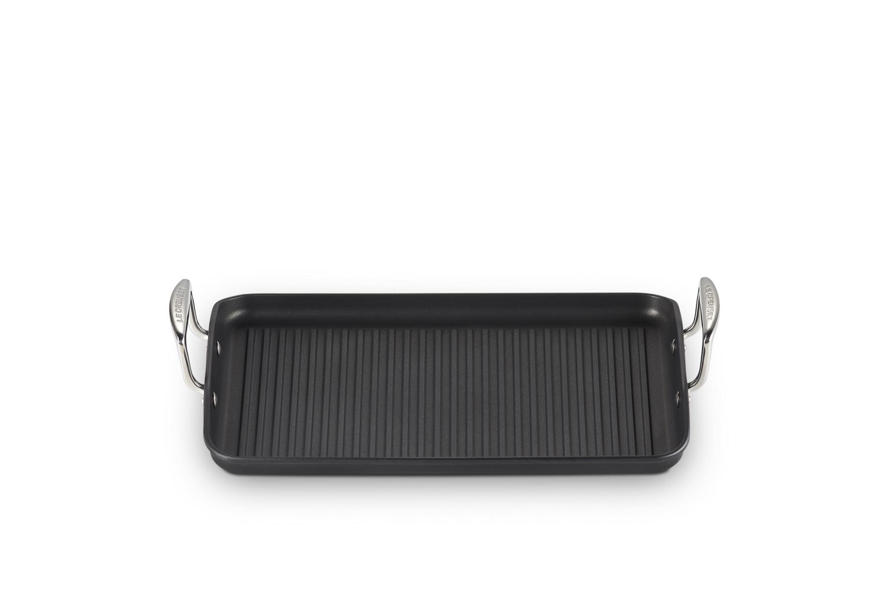 Le Creuset Aluminium-Grillplatte mit Rillen 35 x 25 cm