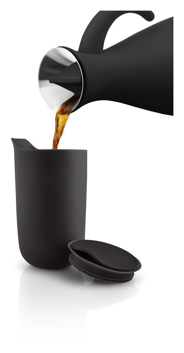 Eva Solo Isolierbecher aus Keramik 0,28L Black, 575000, 5706631201629