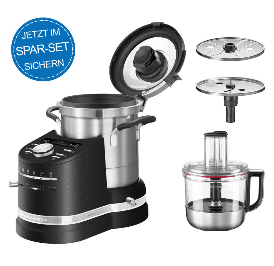 KitchenAid Artisan Cook Processor 5KCF0104EBK/4 + Foodprocessor 5KZFP11 im Set