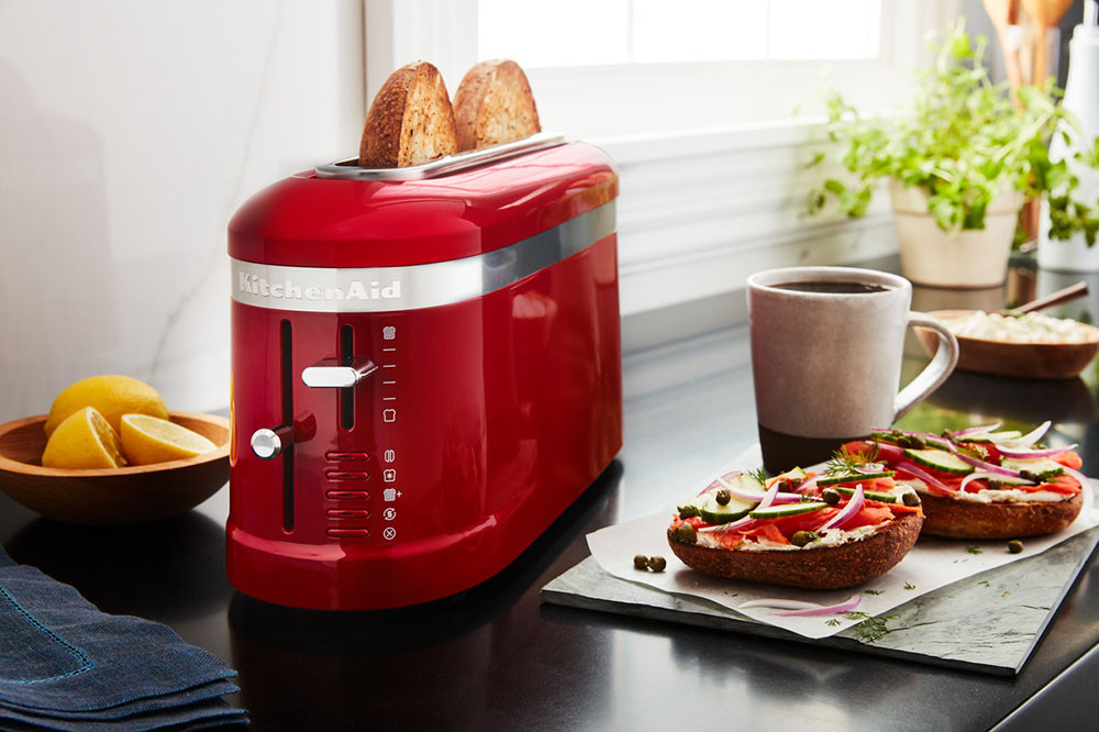 KitchenAid Loft 2-Slice Design 1-Langschlitz-Toaster rot