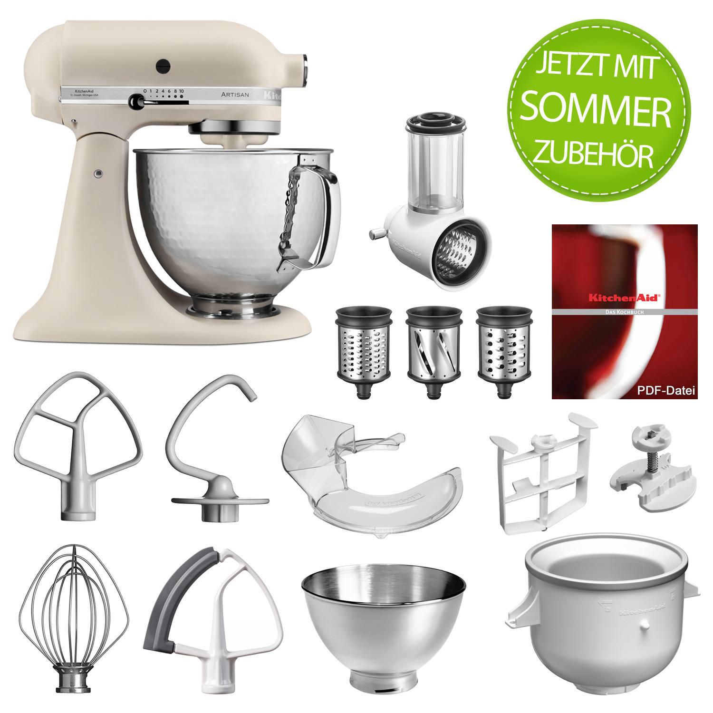 Artisan Küchenmaschine 5KSM156HMEFL Leinen mit 5KSMVSA und Eisbereiter