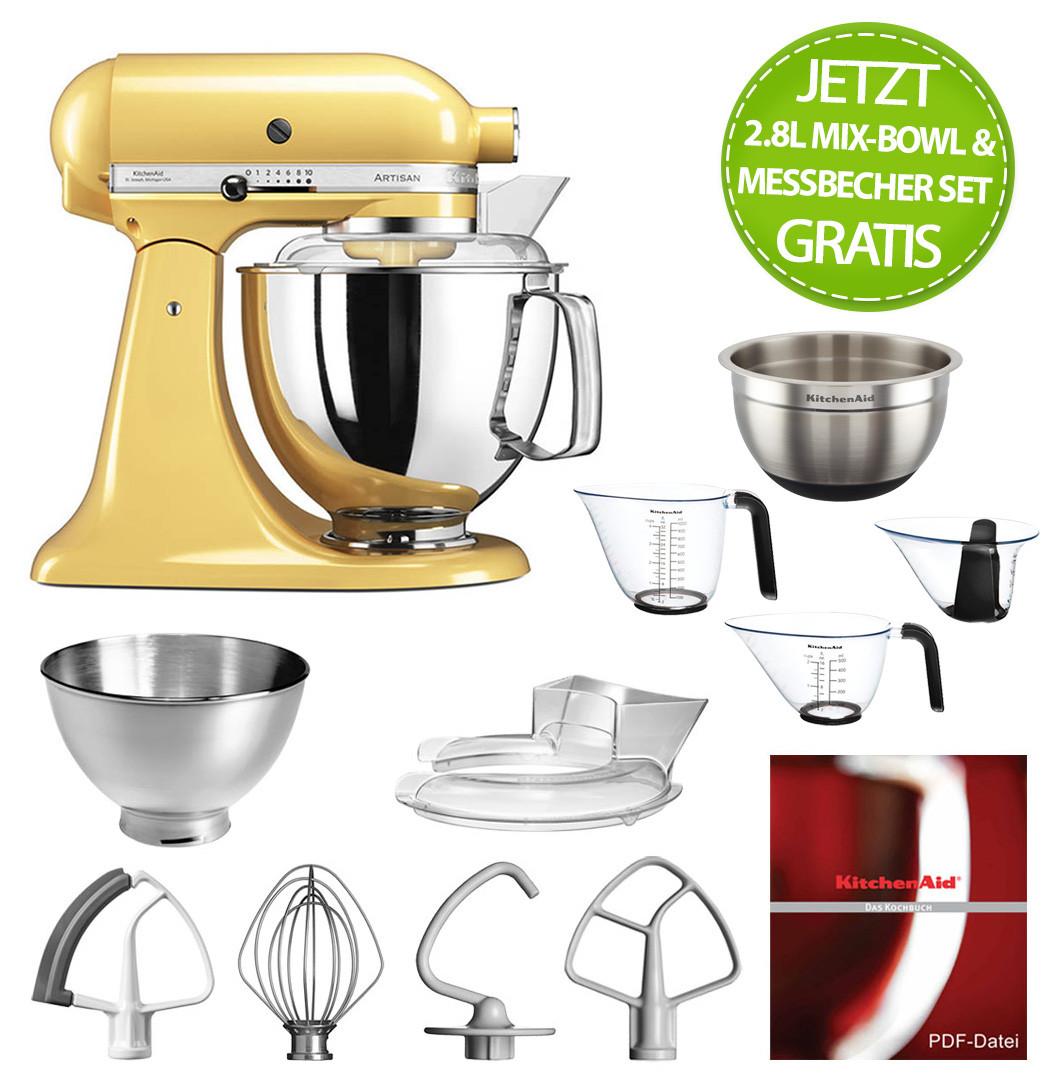nAid Artisan Küchenmaschine 175PS pastellgelb 4,8 Liter