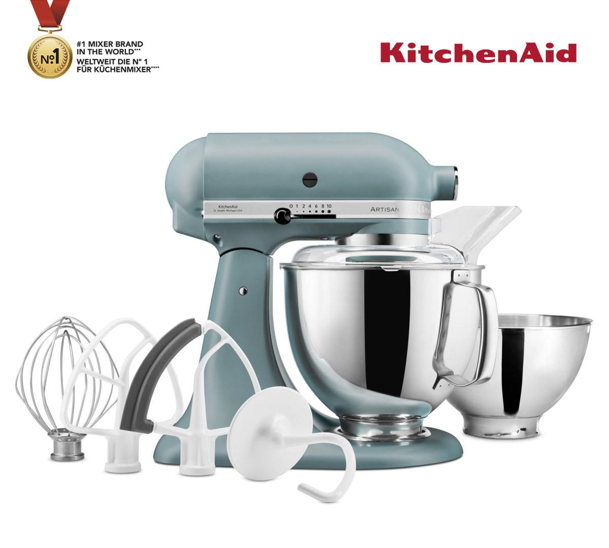 KitchenAid Küchenmaschine 175PS Entsafter Vital-Set nebelblau