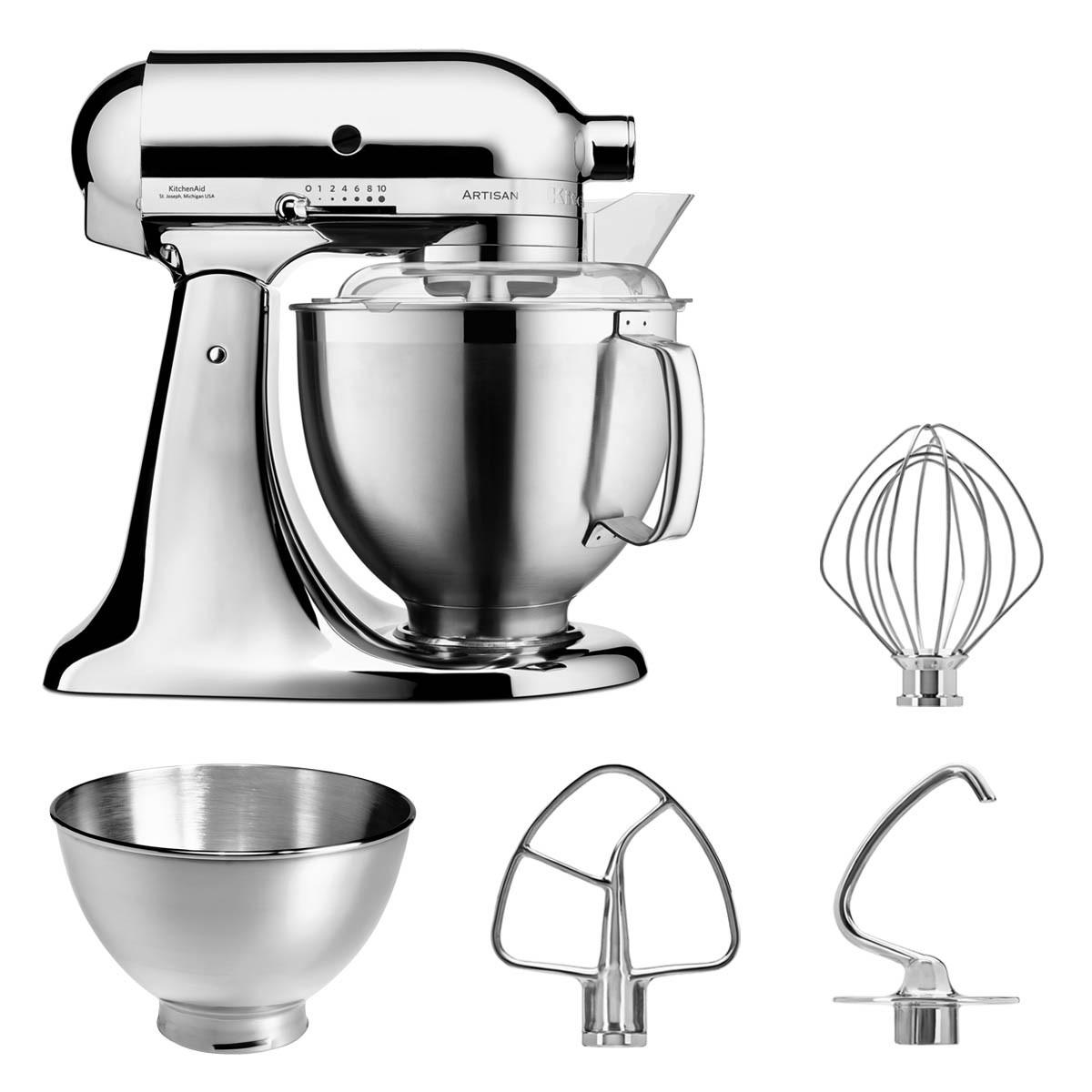 KitchenAid Küchenmaschine 5KSM185PS chrom