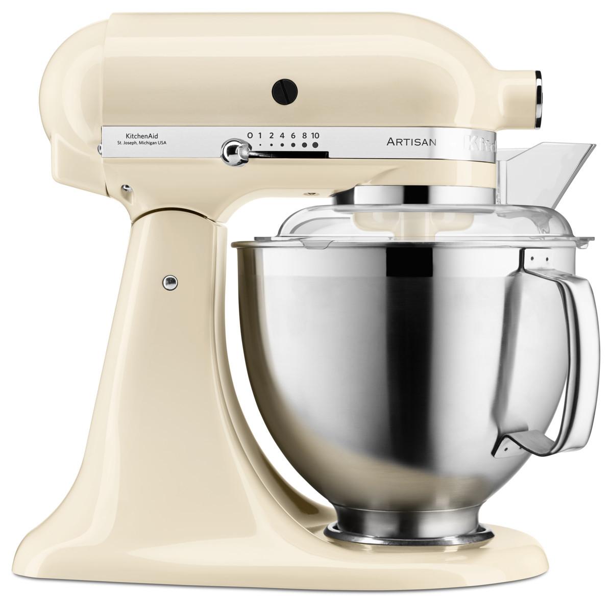 KitchenAid Küchenmaschine 185PS Mega-Paket creme/mandel