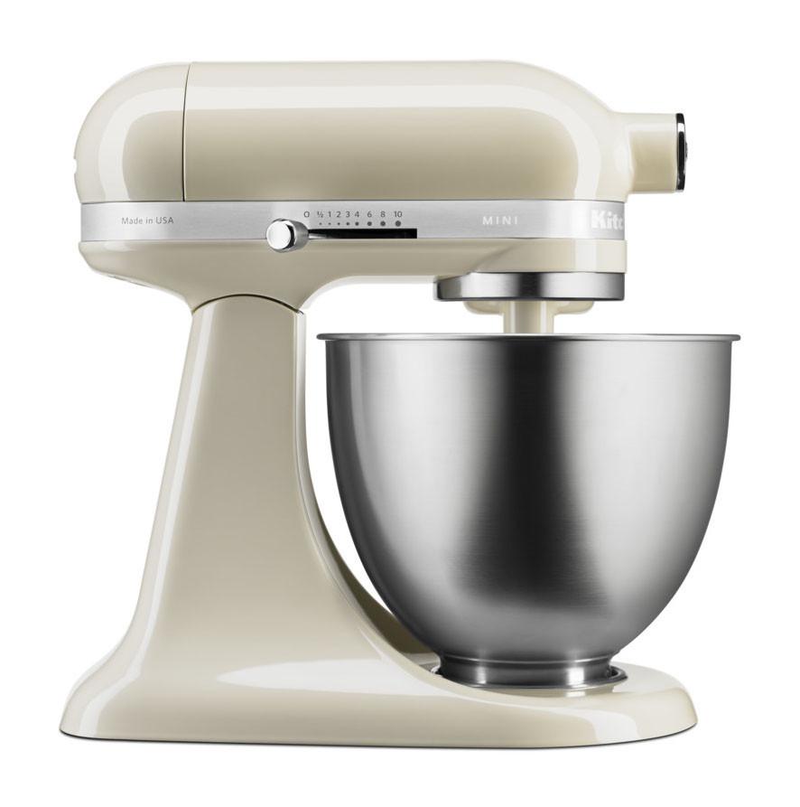 KitchenAid Küchenmaschine 3,3-L-Mini creme/mandel seitlich