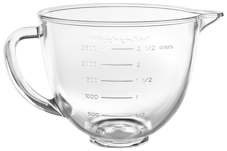 KitchenAid Klar-Glasschüssel mit Deckel 5KSM35GB