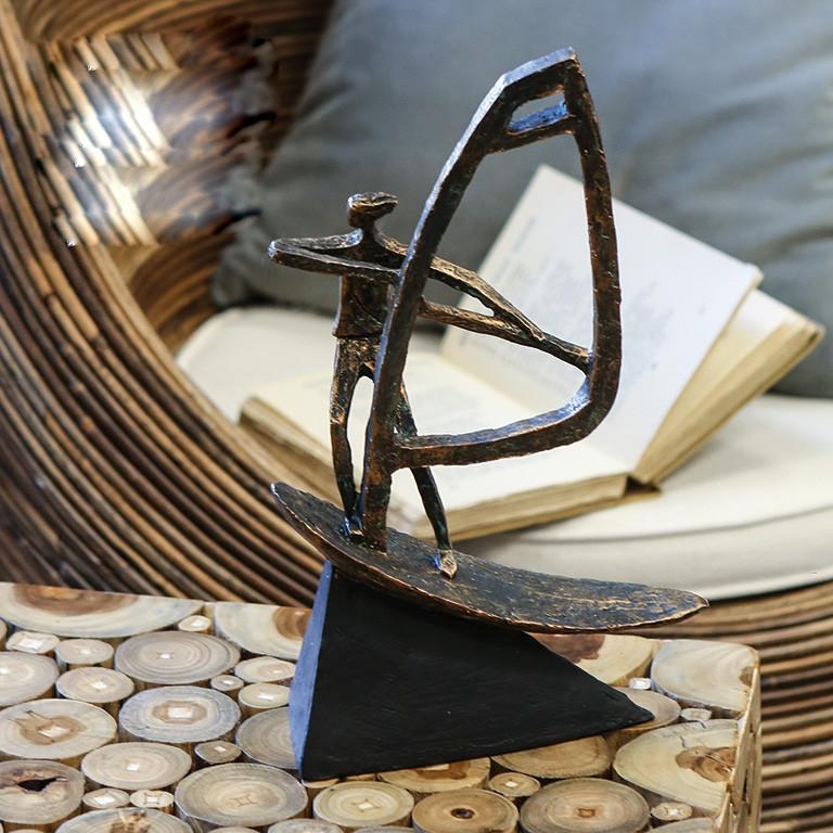"Casablanca Skulptur ""Surfer"" Poly, bronce finish"