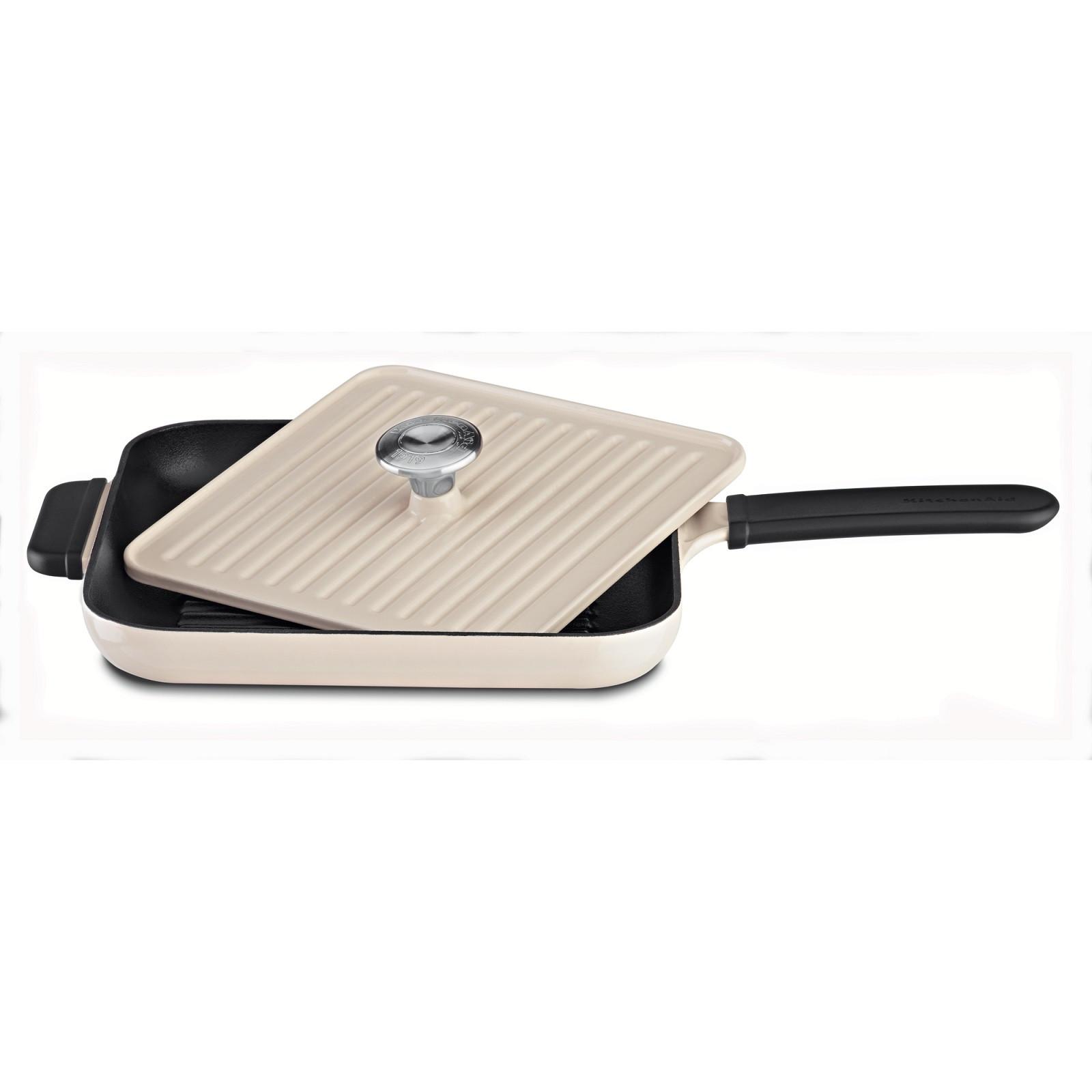 KitchenAid Grillpfanne mit Presse creme