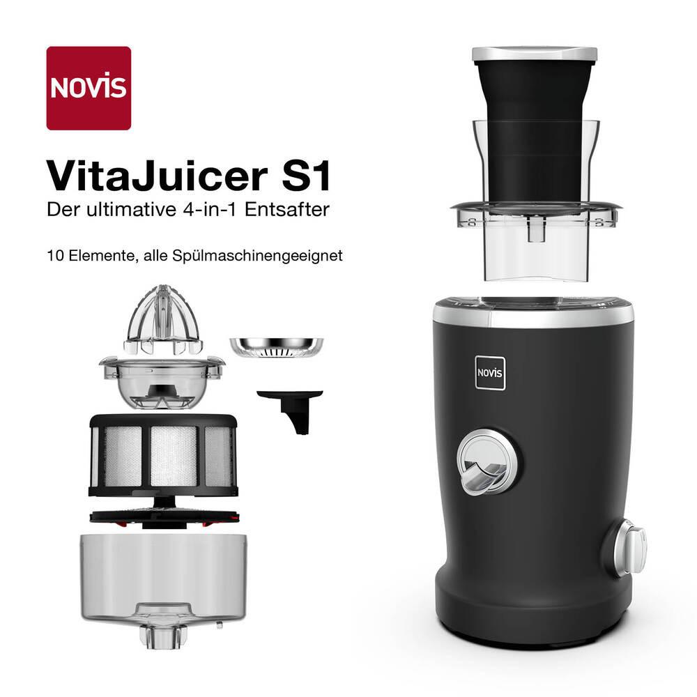 NOVIS VitaJuicer S1 Entsafter  matt black 6511.34.20, 7640128133353
