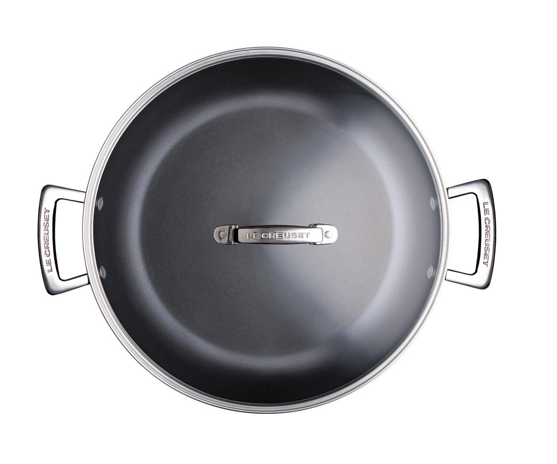 Le Creuset Aluminium-Antihaft-Profi-Pfanne mit Glasdeckel 28 cm