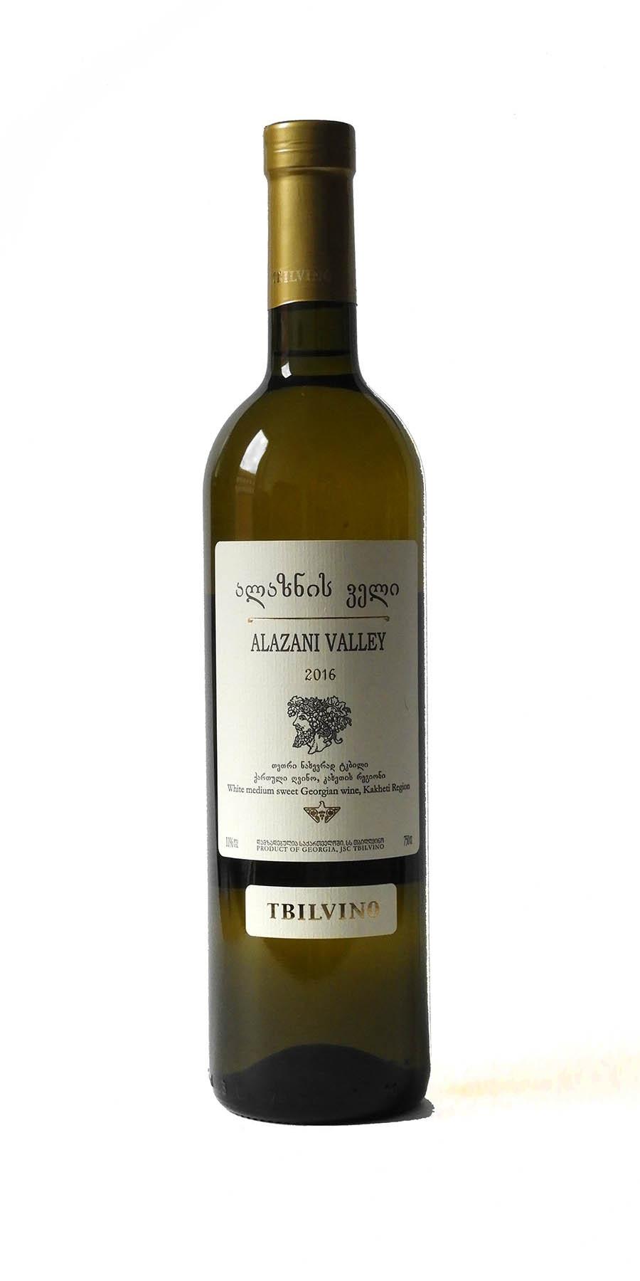 Tbilvino Alazani Valley, lieblicher Weißwein 0,75l Georgien