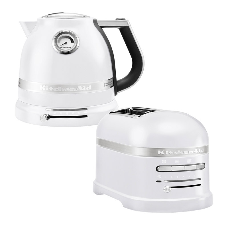 KitchenAid Effect Wasserkocher + Toaster Frosted Pearl