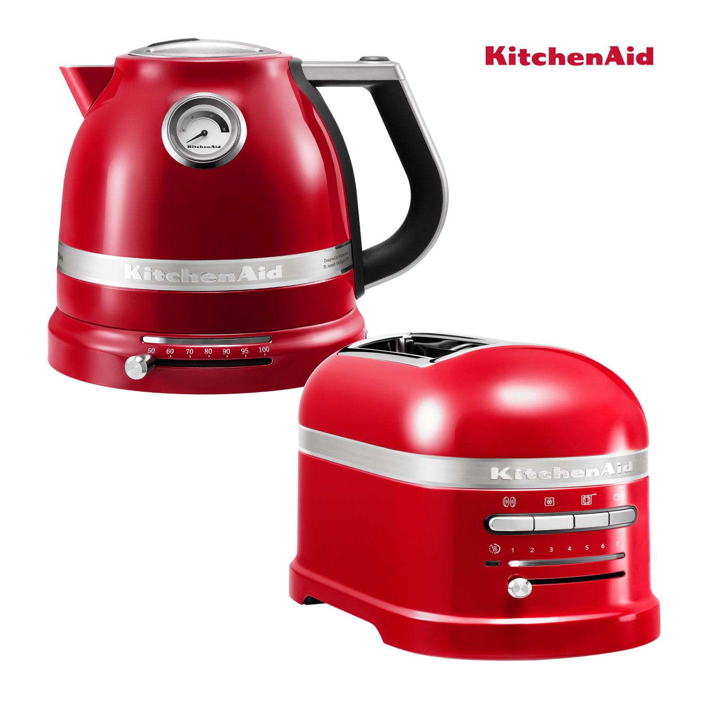 KitchenAid Artisan Wasserkocher + Toaster Empire Rot