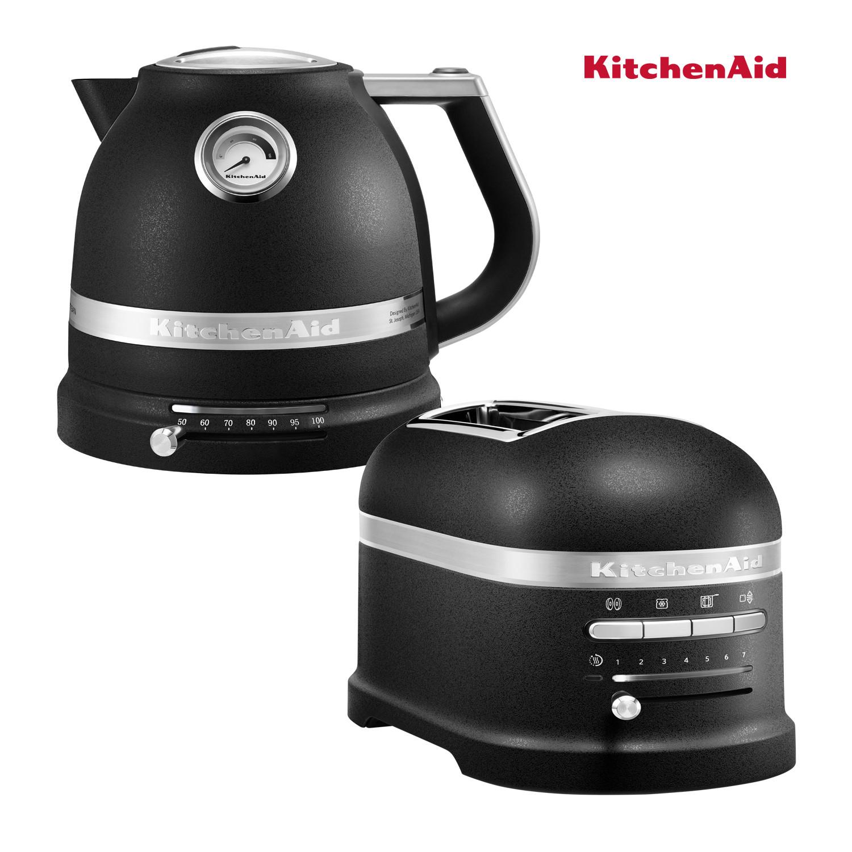 KitchenAid Effect Wasserkocher + Toaster Gusseisen Schwarz
