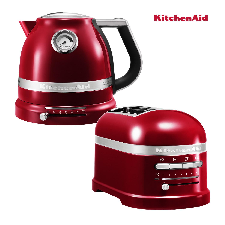 KitchenAid Effect Wasserkocher + Toaster Liebesapfelrot