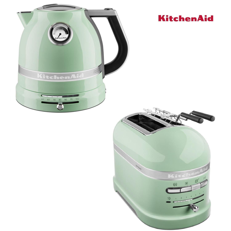 KitchenAid Artisan Wasserkocher + Toaster Pistazie