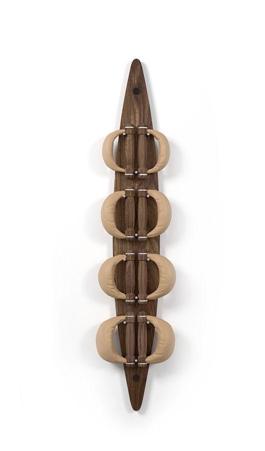 NOHrD Swing Board Nussbaum- Hanteln aus Vollholz und Leder, 13.310