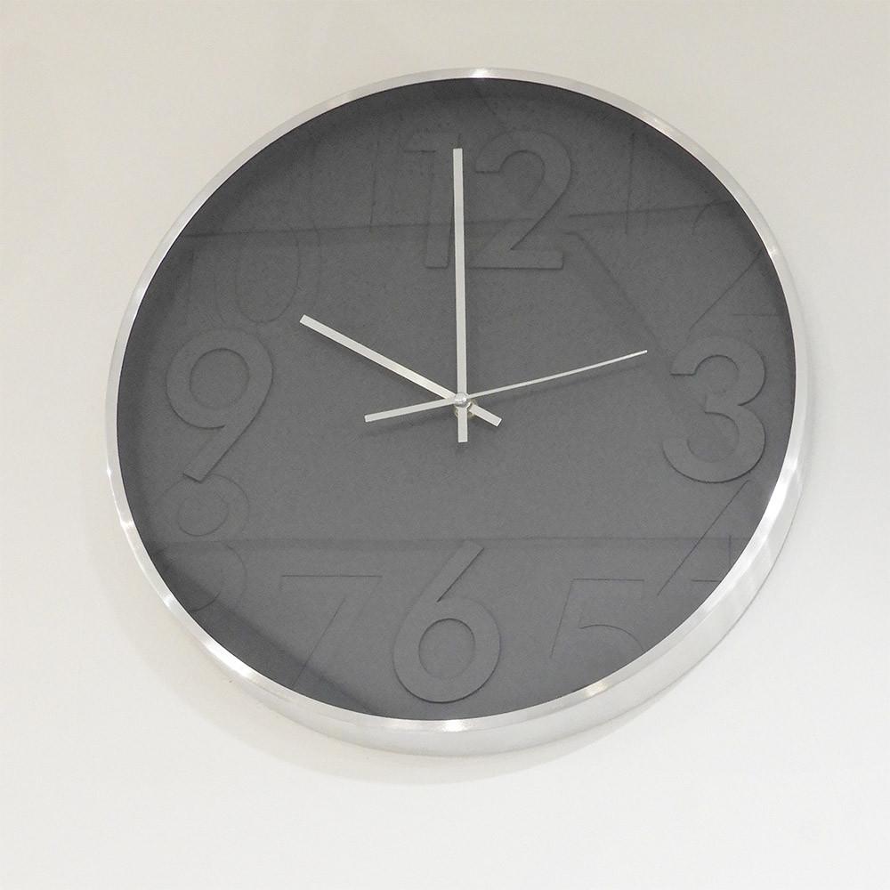 "Casablanca Uhr ""Grigio"" Alu gebürstet 40 cm"