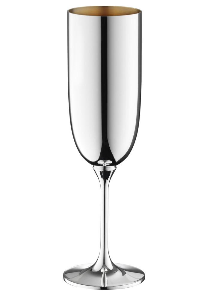 Robbe & Berking Dante Champagnerkelch 90g versilbert, innen vergoldet, 06231598, 4044395246151