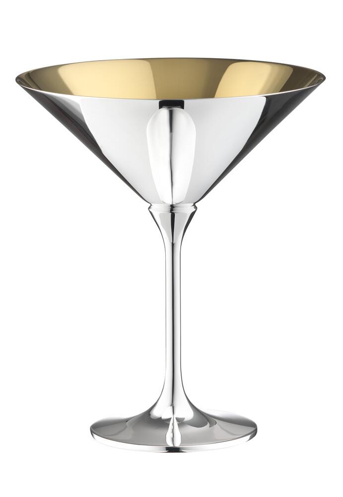 Robbe & Berking Dante Cocktailschale 90g versilbert, innen vergoldet, 06231597, 4044395246144