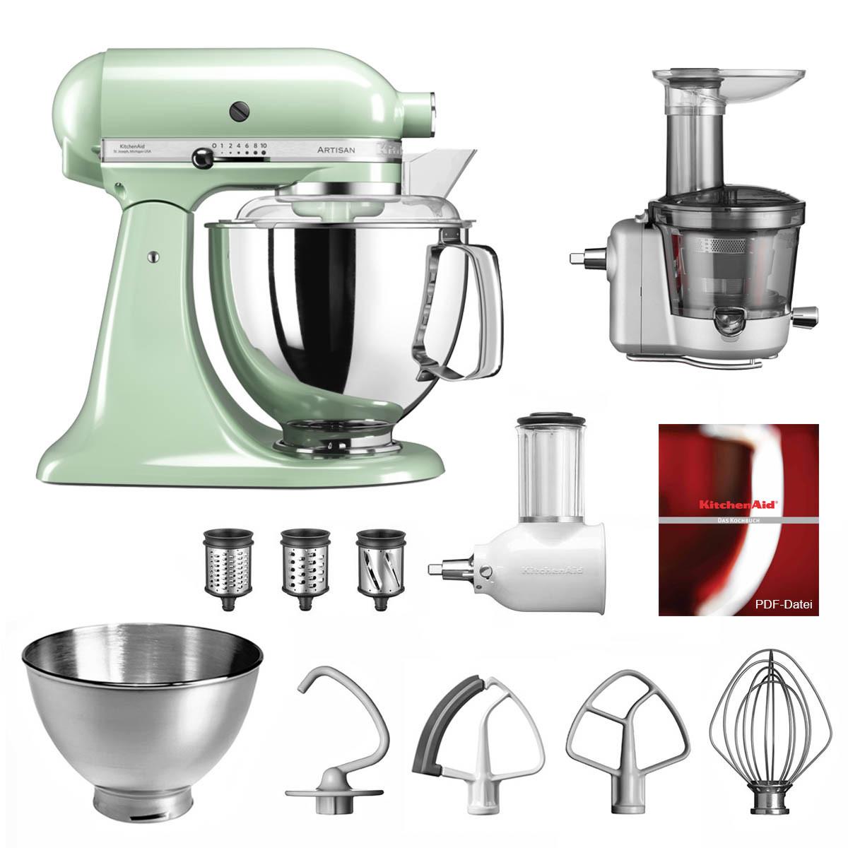 KitchenAid Küchenmaschine 5KSM175PS Entsafter Vital-Set pistazie