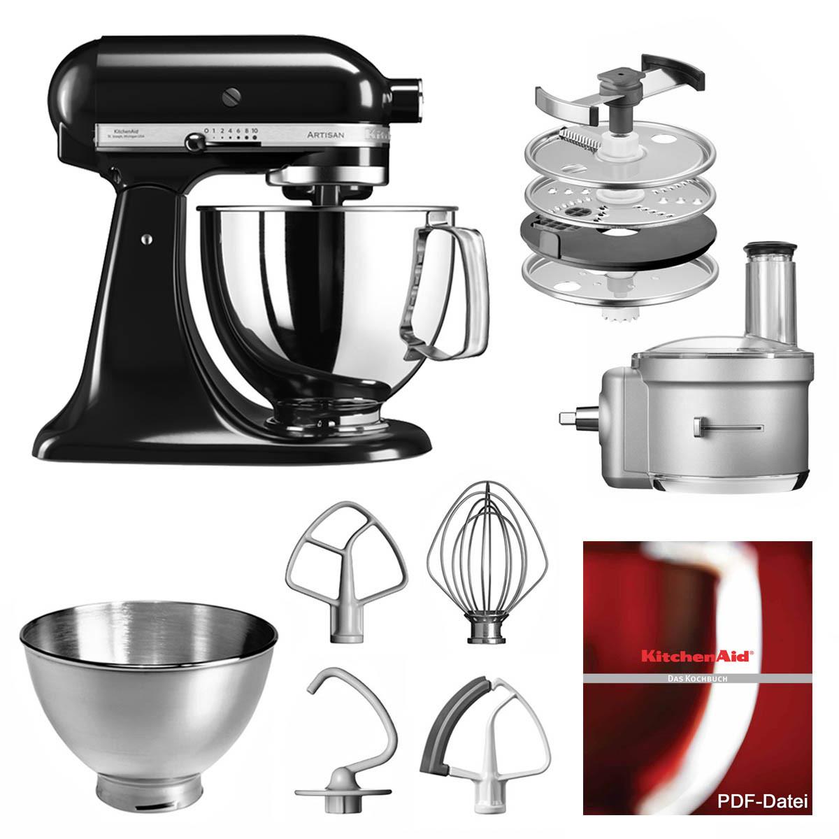 KitchenAid Küchenmaschine 175PS Foodprocessor Set onyx schwarz