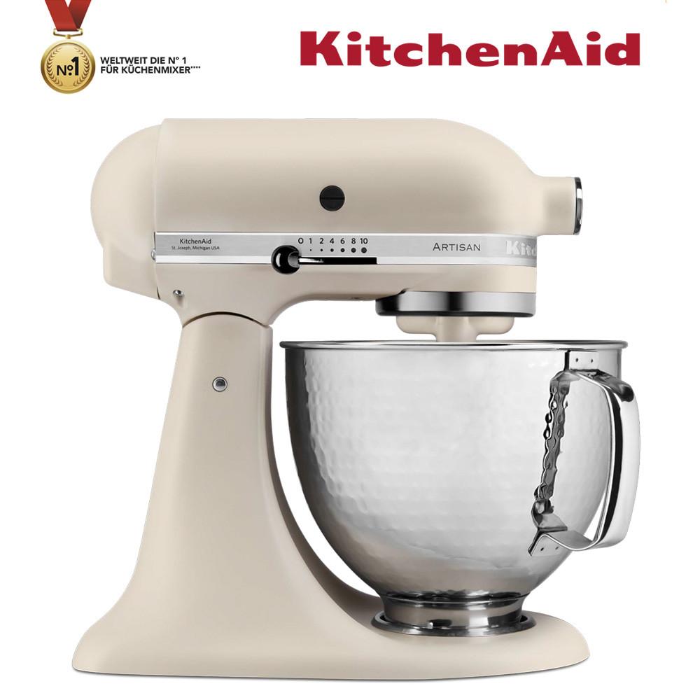 KitchenAid Küchenmaschine 5KSM156HMEFL Mega-Paket Leinen matt