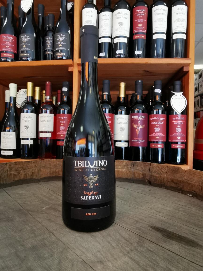 Tbilvino Saperavi Georgien trockener Rotwein
