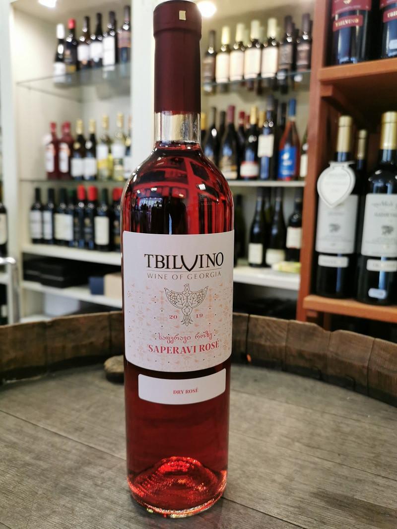Tbilvino Saperavi Rosé, trockener Roséwein 0,75l Georgien 2019