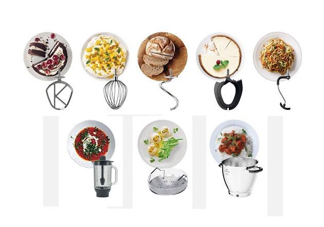 Zubehör Lieferumfang KCL95.424SI Kenwood Küchenmaschine Cooking Chef