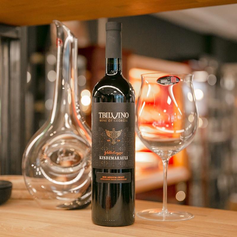 Tbilvino Kindzmarauli Georgien lieblicher Rotwein 0,75 Liter 2019 6er Sparset