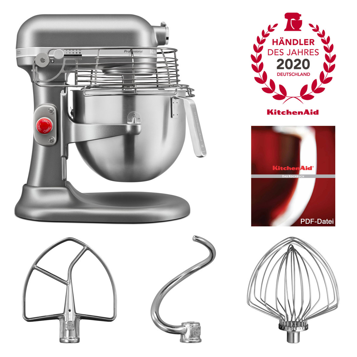 KitchenAid Artisan Küchenmaschine 6,9l PROFESSIONAL silber 5KSM7990XESL