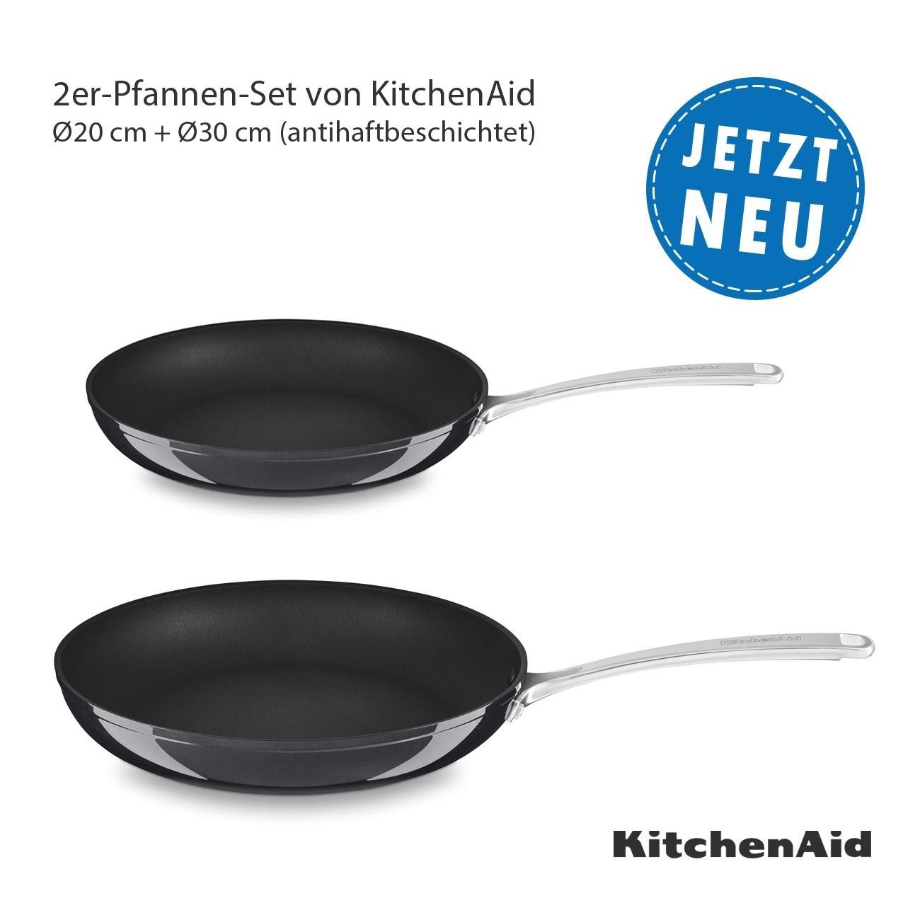 KitchenAid Bratpfannen Ø30 cm und Ø20 cm (antihaftbeschichtet) im Sparset