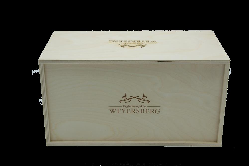 Kupfermanufaktur Weyersberg Stielkasserolle Kupfertopf Keramik 16 cm, 4601-16, 4250049950767