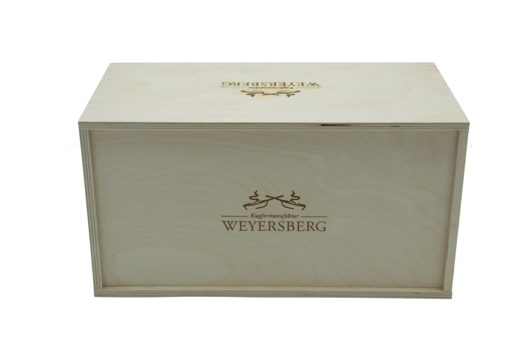 Kupfermanufaktur Weyersberg Stielkasserolle Kupfertopf Keramik 20 cm, 4601-20, 4250049950774